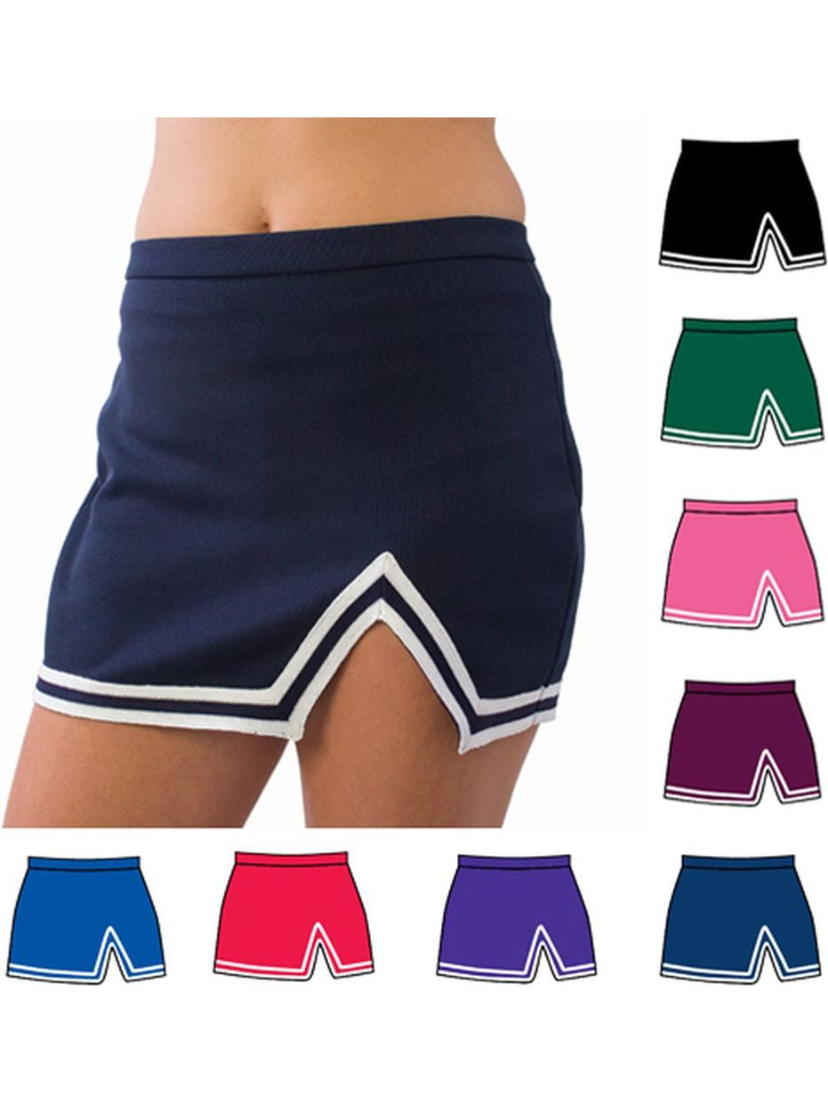 Pizzazz Girls Multi Color A-Line V-Notch Uniform Skirt Youth