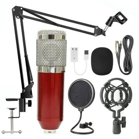 BM800 Professional Suspension Microphone Kit Studio Live Stream Broadcasting Recording Condenser Microphone Set 001 Mic Kit
