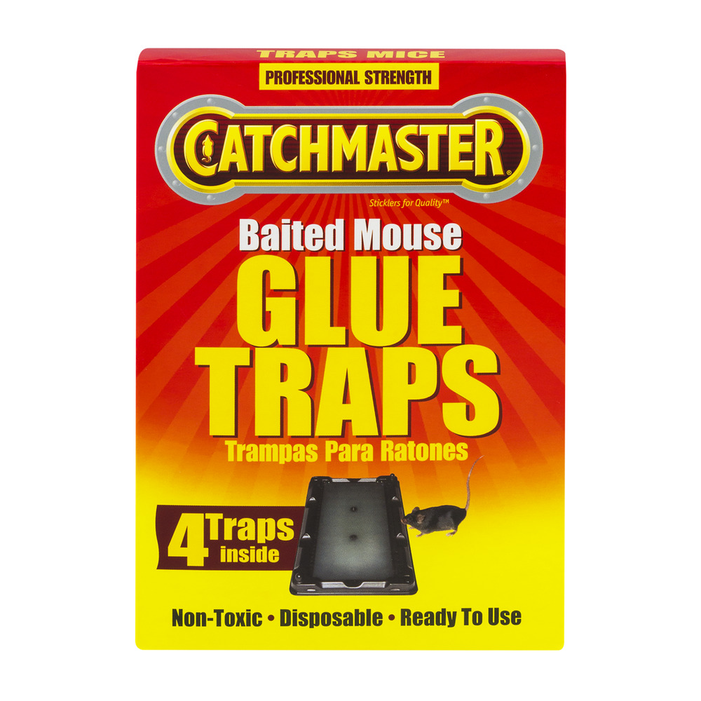 Catchmaster Baited Mouse Glue Traps - 4 CT