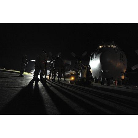 LAMINATED POSTER Nevada Air National Guard C-130 Hercules maintenance crews from the Reno-based 192nd Aircraft Mainte Poster Print 24 x - Nevada National Guard