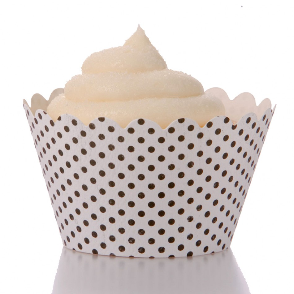 Dress My Cupcake Standard Polkadot Cupcake Wrappers, Set of 12