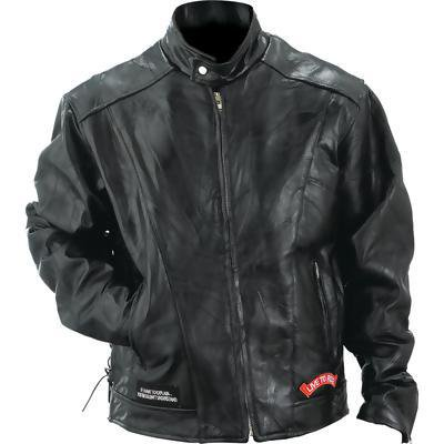 Diamond Plate Mens Genuine Buffalo Leather Motorcycle Jacket-4x (pack Of 1)