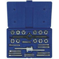 IRWIN HANSON 24614 Tap and Die Set, 24 pc, High Carbon Steel