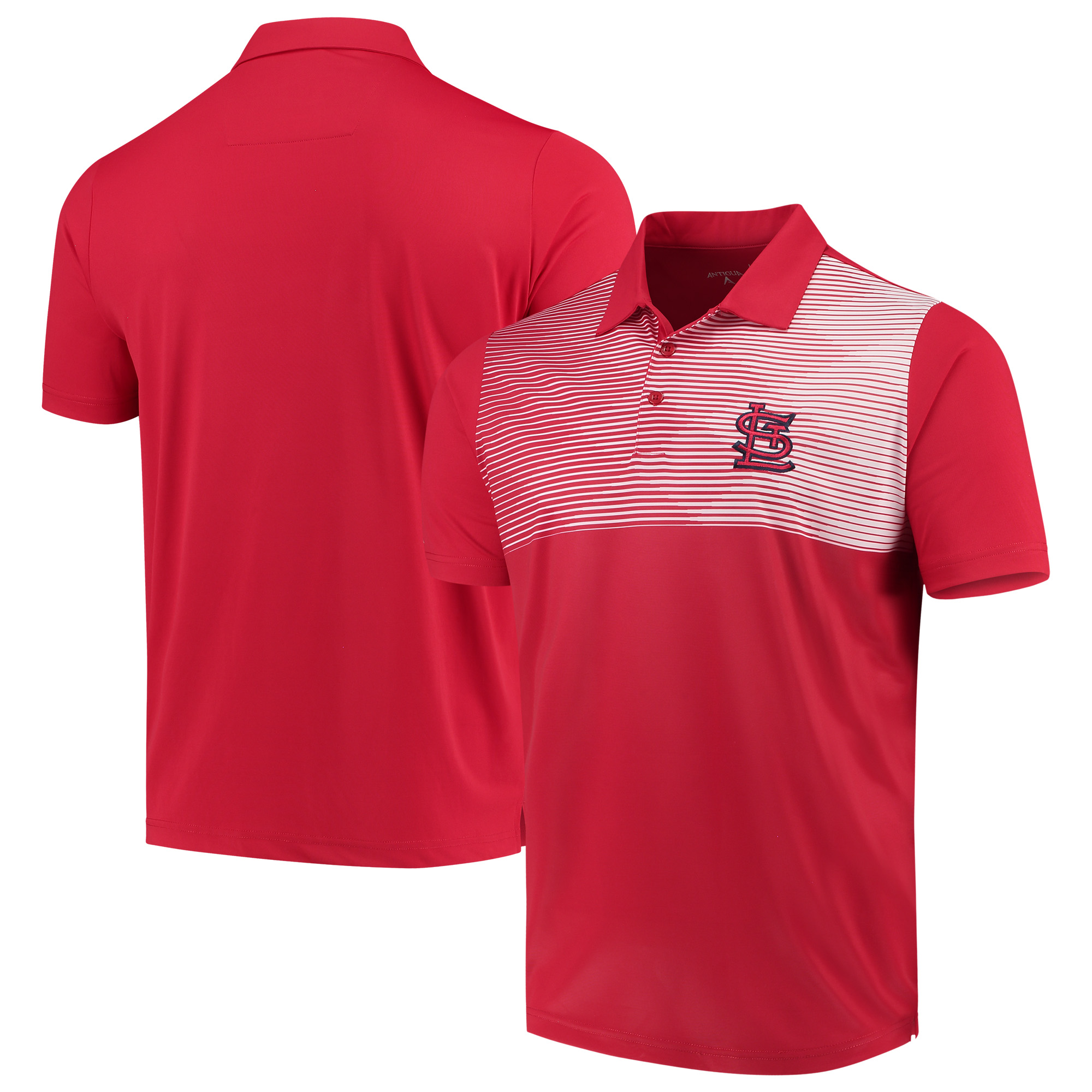 St. Louis Cardinals Antigua Tactic Polo - Red/White