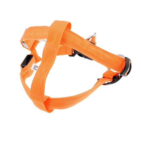 Unique Bargains Unique Bargains XL Size Pet Dog Puupies Flashing Orange Light Chest Strap 57cm Length ()