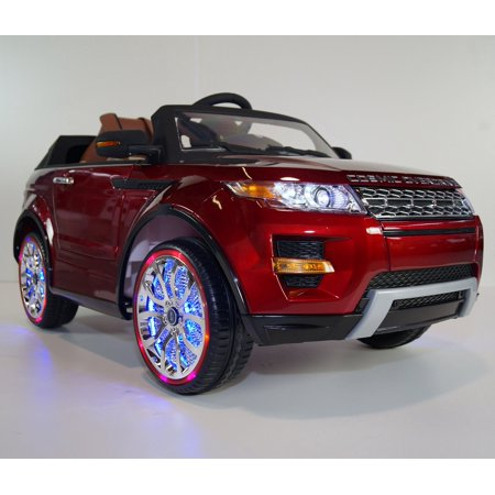 Luxury Mp4 Edition Range Rover Style 12V Kids Ride On Car Leather Seat  Led Wheels  Rc