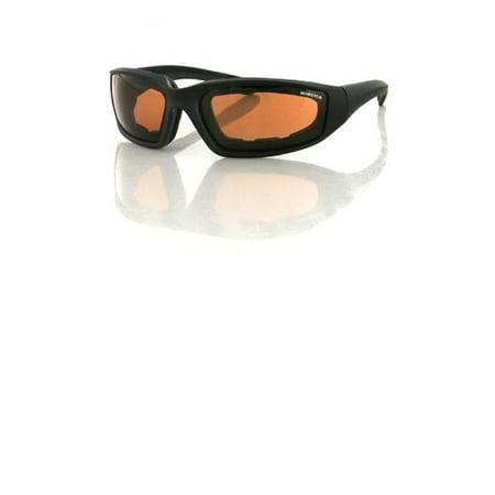 Amber Glass Reservoir (Bobster Foamerz 2 Sunglass, Black Frame, Anti-fog Amber)