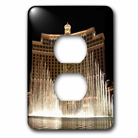3dRose Las Vegas - 2 Plug Outlet Cover (lsp_4397_6) (Best Vegas Outlets)