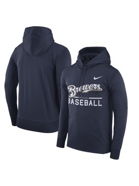 9006ed3fbb4c Product Image Men s Nike Navy Milwaukee Brewers Pullover Hoodie