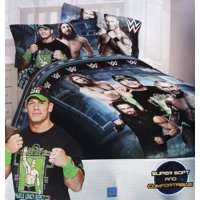 WWE Industrial Strength Full Comforter & Sheet Set (5 Piece Bed in A Bag)