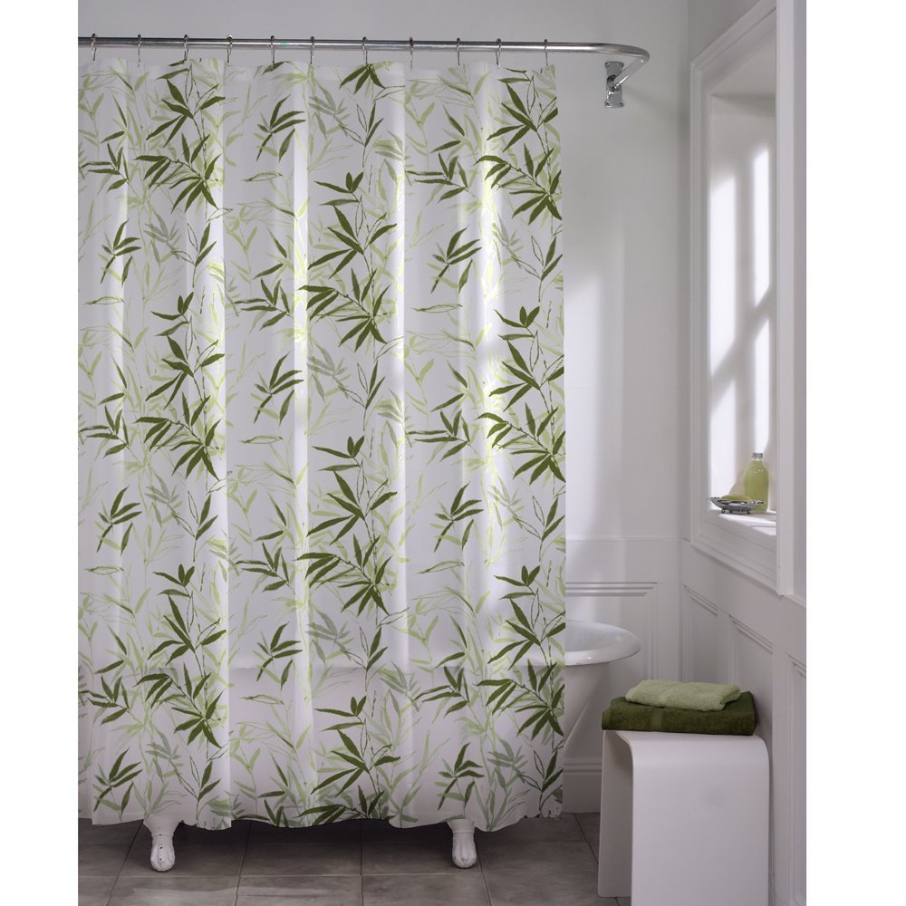 Zen Garden Waterproof PEVA Shower Curtain Polyethylene Vinyl Acetate By MAYTEX