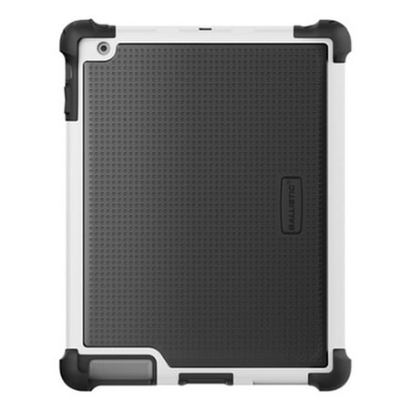 Ballistic Tough Jacket Case with Stand for iPad 4th Generation, iPad 2 and 3 - Retail Packaging - Black/White