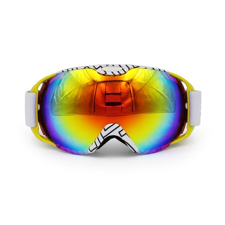 Ediors Windproof Snowmobile Ski Goggles Protective Eyewear  - Anti Fog Double Lens All Mountain / UV Protection