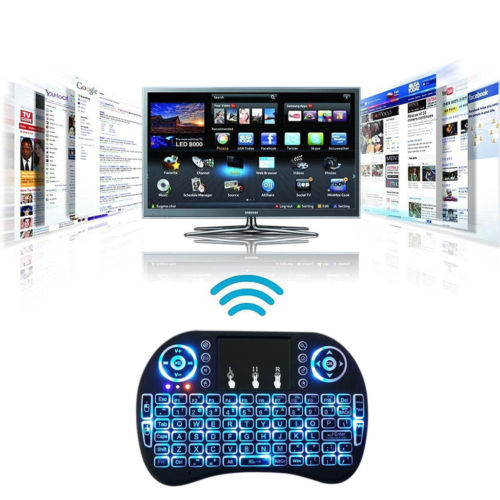 2.4GHz Air Mouse Backlit Wireless Touchpad Keyboard For PC Android TV Box Mini