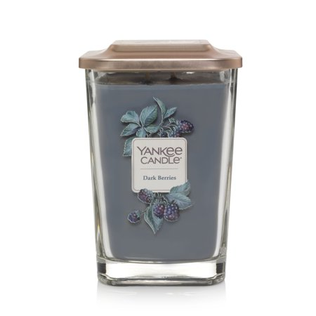 Yankee Candle Dark Berries Elevation Collection with Platform Lid - Large 2-Wick Square -