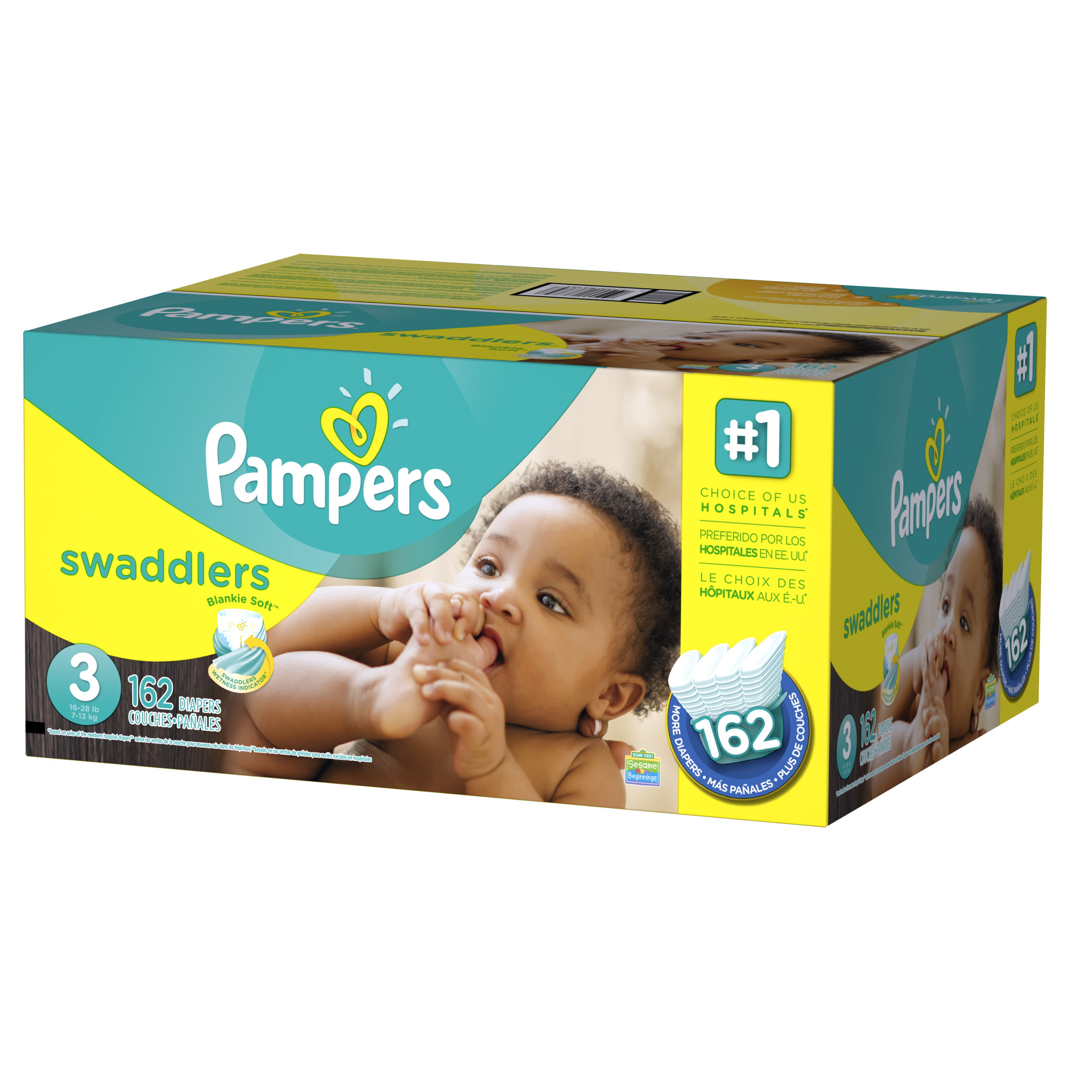 Pampers Newbaby Sensitive Taille 1 2 à 5kg 23 Couches Blanc Blanc