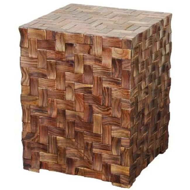 New Pacific Direct 830821-DN Cinch Cube Table, Dark Natural