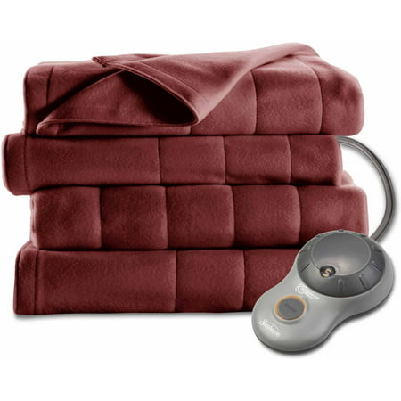 Sunbeam Electric Heated Fleece Blanket Walmart Com
