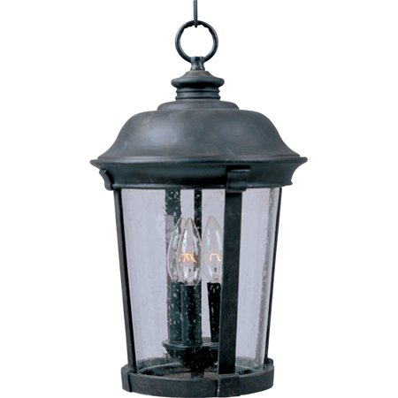 Maxim 40099CD Three Light Up Lighting Outdoor Pendant from the Dover VX (Vx Collection)
