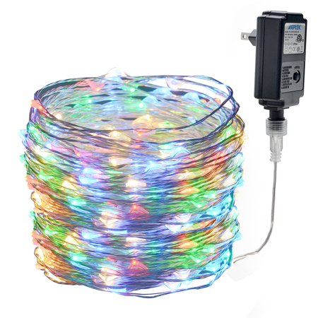 - 66ft 200 LED Copper Waterproof 8 Flashing Modes Fairy Starry String Lights RGB Multicolor