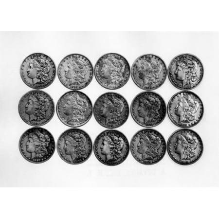 Us One Dollar Coins Canvas Art     24 X 36