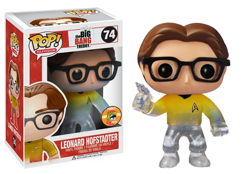 Funko POP! Television Leonard Star Trek Gold Shirt with Gun Vinyl Figure (SDCC Exclusive) by Funko