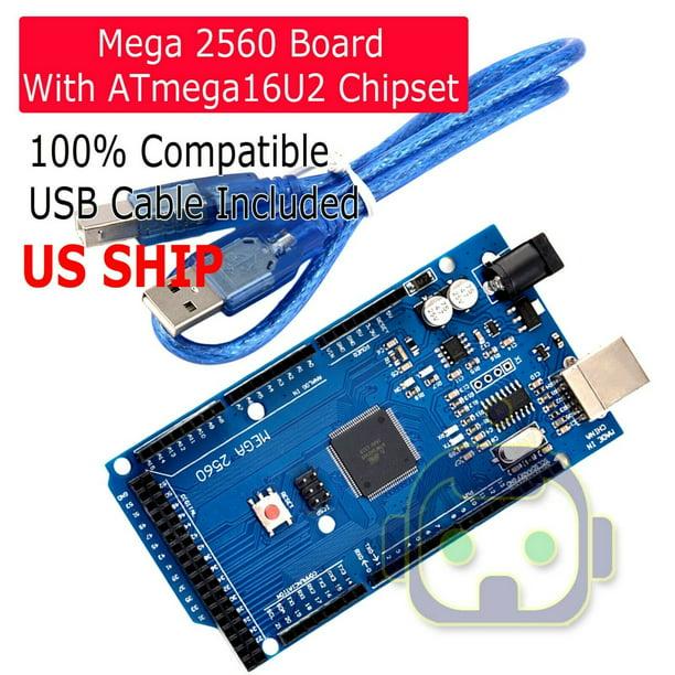 HOT ATmega2560-16AU ATMEGA16U2 Board+USB Cable für MEGA2560·R3.;,
