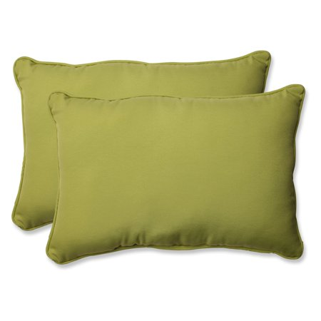 Pillow Perfect Outdoor/ Indoor Fresco Pear Over-sized Rectangular Throw Pillow (Set of 2)