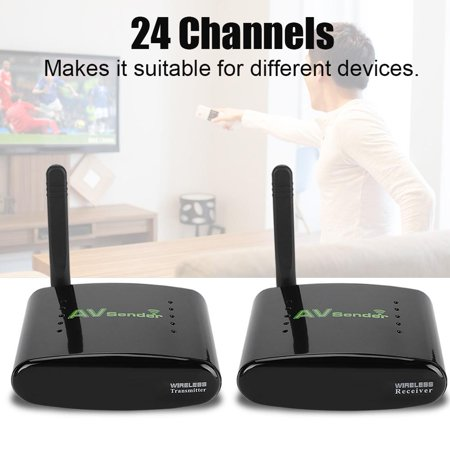 PAKITE Anti-interference 24-channel 5.8GHz Fast Data Transmission Wireless AV Sender - US Plug, Video Signal Transmitter, Wireless Audio Video Transmitter and Receiver (Audio Video Transmitter)