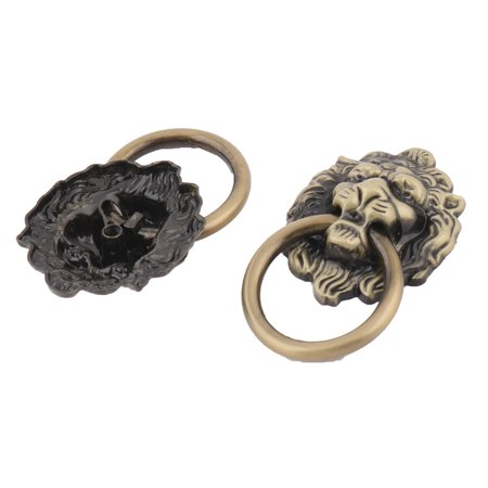 Lion Drawer (Uxcell Lion Head Shaped Drawer Cabinet Door Ring Pull Handle Bronze Tone 2 Pcs )