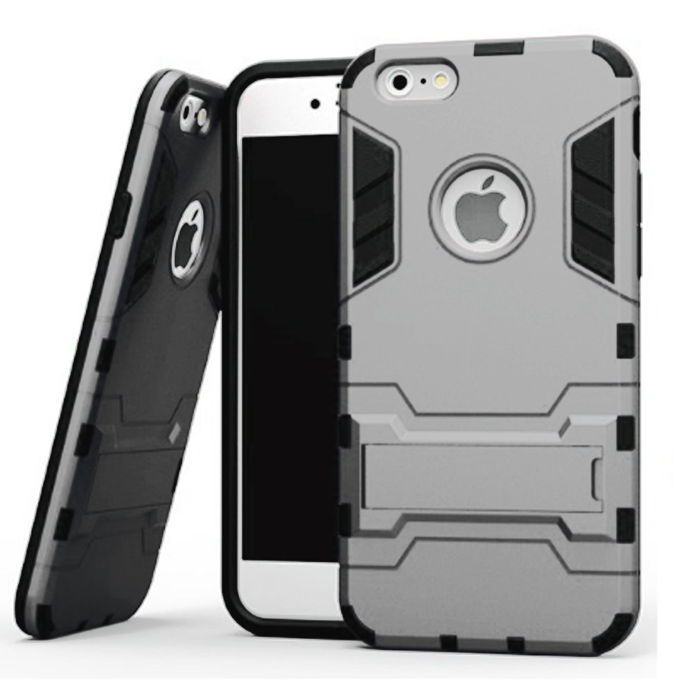 Iphone SE Case, Mignova Ultra Slim iPhone SE Built with kickstand Armor Case for iPhone SE 5 5s (Silver)