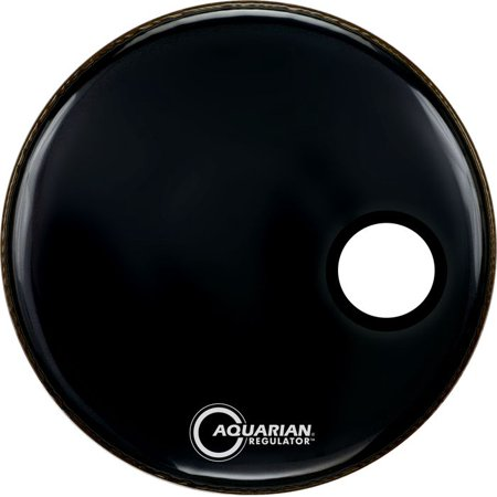 Aquarian RSM20BK Regulator 20 Front Resonant Black Bass Drum