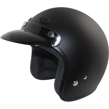 Zox Classic Open Face Helmets Matte Black X-Small