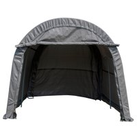 Outdoor 10x10x8 FT Carport Canopy Tent Car Storage Shelter Garage Gray