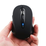 Wireless Mini Bluetooth Optical Mouse Black 1600 DPI for Laptop Notebook PC and Laptop