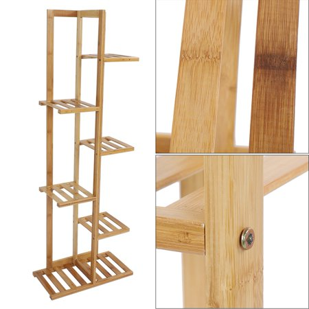 Herwey Wood Plant Stand Solid Flowers Plant Rack Shelves Display Shelf - image 7 of 8