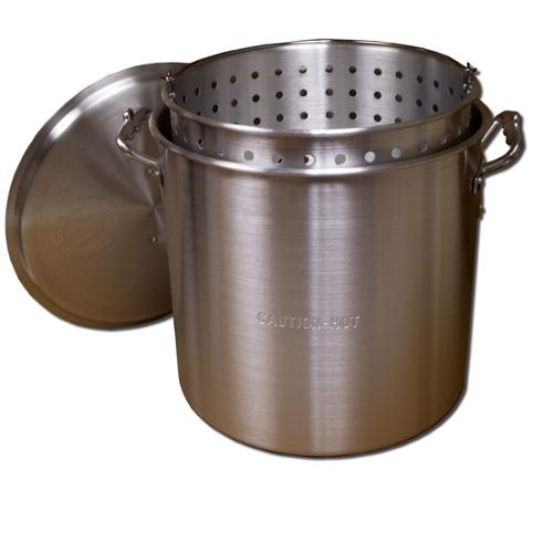 King Kooker  #KK32-32 Qt. Aluminum Pot with Basket and Lid - KK32