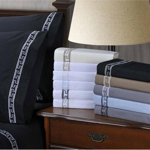 Wrinkle Resistant Embroidered Regal Lace 6-piece Deep Pocket Sheet Set Twin XL - Ivory/Taupe