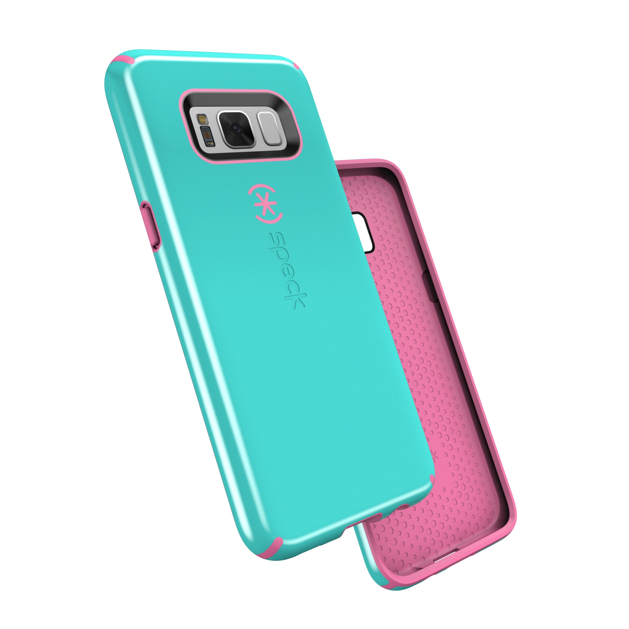 Speck CandyShell Case for Galaxy S8 Plus, Blue and Pink