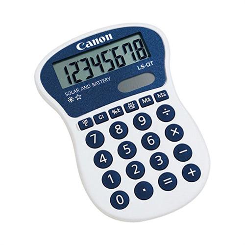 Canon LS-QT 8-Digit Handheld Calculator Solar and Battery Power LSQT