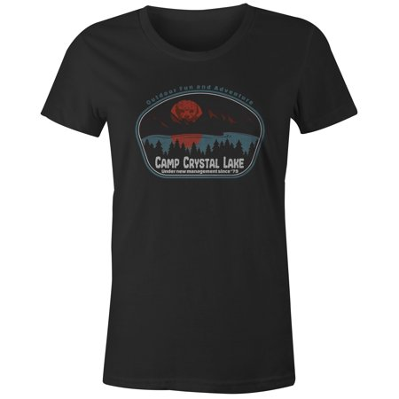 9 Crowns Tees Camp Crystal Lake Blood Lake Funny Jason T-Shirt-Mens](Camp Crystal Lake)