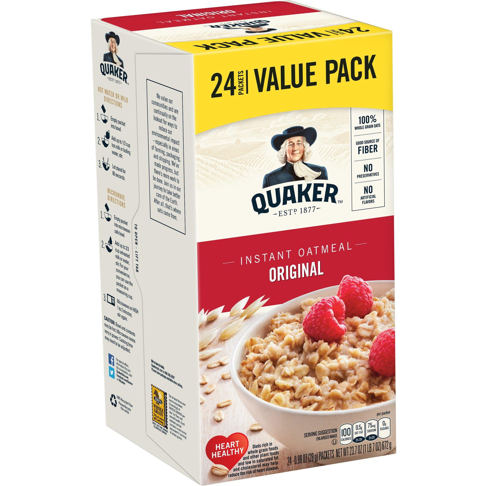 Quaker Instant Oatmeal, Original, Value