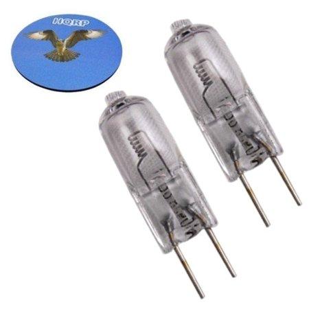 HQRP 2-Pack 22.8V 50W Halogen Bulb G6.35 BiPin Base Lamp for Dr. Mach M3, Trigenflex R96 Stand 1660-91 67100101 1240/91-67100101 Triaflex MA-040 + HQRP Coaster