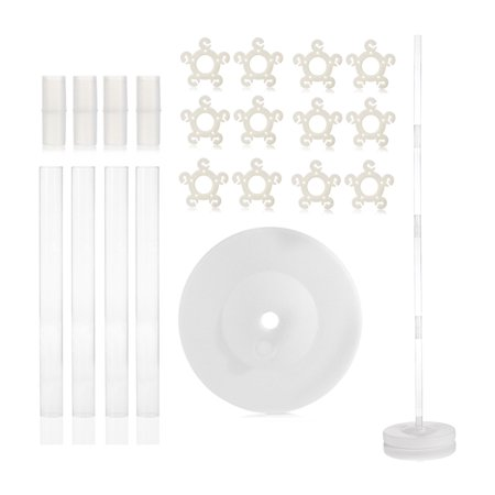 Balloon Columns Kit (WYN-Marts U.S.A Balloon Column Stand Kit with 4 Feet Height AND 2lb Water Fillable Base, Free 1 Piece Portable Balloon Flower Clip Holder, 100% Satisfaction)