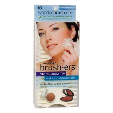 Wonder Brush-ers Make-up Applicators - 10 Medium Tip - White - image 1 of 1