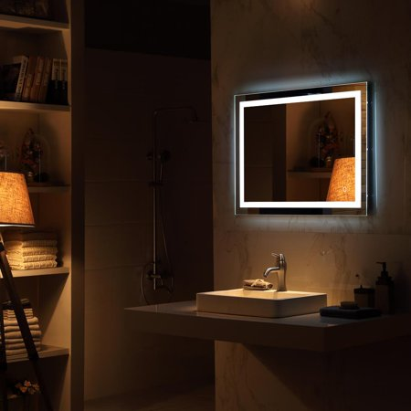 Fairmont 24 Inch Mirror - Ktaxon Lighted LED Commercial Grade Vanity or Bathroom Wall Hanging Rectangle Vertical Mirror
