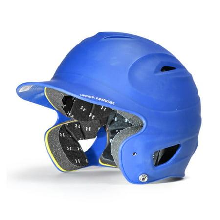 Under Armour Solid Matte Finish Baseball Batting Helmet - Adult - Royal 100 Roman Tub Set