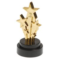 US Toy 4383 Shooting Star Trophies - 6 Pieces