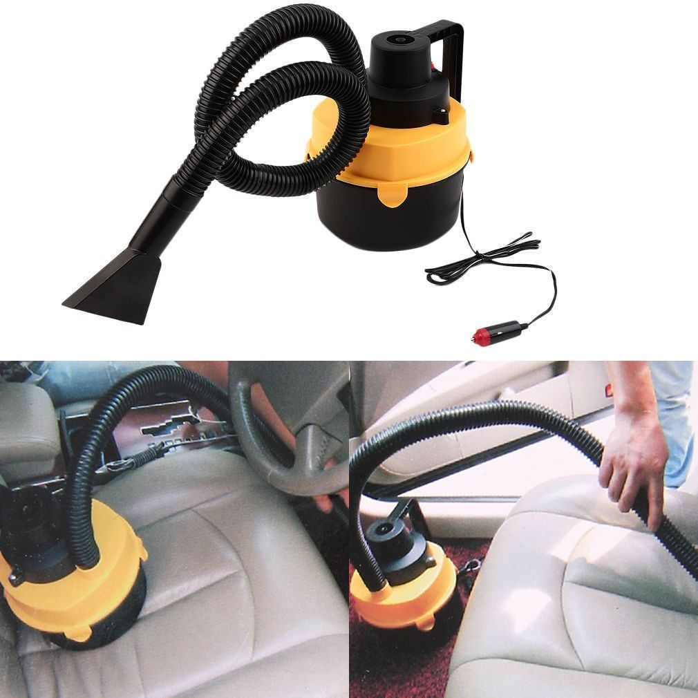Wet Dry Vacuum Cleaner Inflator Portable Turbo Hand Held for Car Vacuum Cleaner 12V