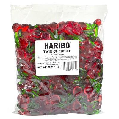 Haribo Twin Gummi Cherries, 5 lb
